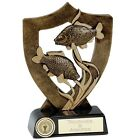 ANGLING FISH FISHING SHIELD TROPHY INC YOUR ENGRAVING Choice of 3 Sizes NEW