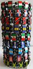 Country Flag Hematite Magnetic Bracelets Stretch Elastic New w Slight Defects!