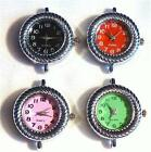 PRETTY LADIES WATCH FACE - QUARTZ - SILVER PLATED - CHOICE OF 4 DIAL COLOURS