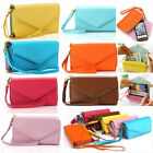 Womens ID Card Bag Colorful Purse Lady Clutch Envelope Wallet PU Leather Bag