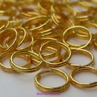 100, 200 or 400 x Gold Plated Alloy Double Loop Split Open Jump Rings 4,5,7,8 mm