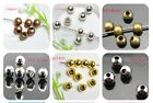 Wholesale 2.0mm 2.4mm 3.2mm 4mm 5mm 6mm Round Metal Charm Spacer Beads Jewelry