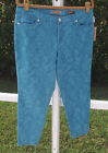 NINE WEST SKINNY BLUE COLORED CROP MID RISE COTTON STRETCH JEANS 6 8 14/25 NEW