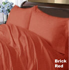1000TC BRICK RED STRIPE COMPLETE USA BEDDING 100% COTTON CHOOSE SIZE AND ITEMS