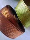 "FRENCH RIBBON 1"" Reversible Rail Pattern Made in France 1yd Novelty"