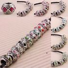 Mix Colors Crystal Rhineston Pave Barrel Drum European Charm Bead Finding Crafts