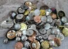 VINTAGE STYLE BUTTONS METALLIC & PEARL  ASSORTED COLOURS & SIZES 30,60,90 GRAMS