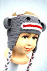 Cute Baby Boy Hat Toddler Red Monkey Knit Crochet Hat Beanie Clothes Cap Mel