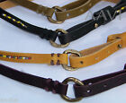 49 SQ.MI. Italian Leather Designer Women's Embellished Skinny Tribal Belt $95