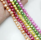 """wholesale lots 5strands color freshwater pearl loose beads gem strand 14""""long"""