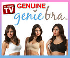 Genie Bra 3 Pack White,Nude, Black S,M,L,XL,2XL,3XL Removable Pads AS SEEN ON TV