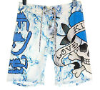 Bnwt Mens Ed Hardy Board Swim Surf Shorts Smoking Love New White