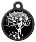 GOTHIC WINTER SKELETON - Custom Personalized Pet ID Tag for Dog and Cat Collars