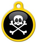 PIRATE - Custom Personalized Pet ID Tag for Dog and Cat Collars