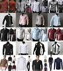 Collection Mens Slim Fit Long Sleeve Business Casual Shirts Tops Shirt S M L XL