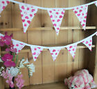 Brand New PINK HEARTS Double Sided Bunting - large or small versions available