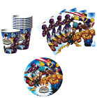 Marvel Super Hero Squad Birthday Party Supplies Kit Tableware Set for 8 or 16
