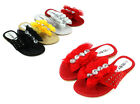 4 Color New Cute Lace Blink Bow Kids/Youth Flip Flop Sandals Girls Flats Shoes