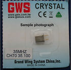 "GWS 35MH Mini Crystal for R4P/R6P FM receiver and others that require 1/2"" size"