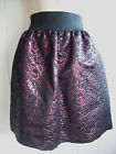 PIED A TERRE BLACK DARK RED JACQUARD LOOK SKIRT SIZES 8 10 12 14 16 BNWOT