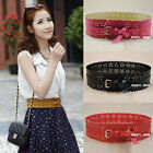 Hot Sale Girl Faux Leather Wide Pin Buckle Belts Decorate Belts Waist Strap IP18