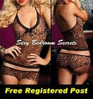 Sexy Camisole Leopard Print with Boy Shorts Aust Sizes 10 to 22