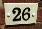 Marble House Number 1-50 Signs With Black Acrylic Numbers Crafted/Cottage/Home
