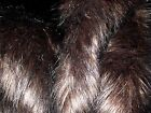 Super Luxury Faux Fur Fabric Material - LONG PILE BROWN & BLACK