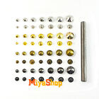 Cone Rivet Metal Spike Studs Leathercraft DIY Fashion Punk Rock With Press Tool