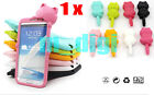 Cute 3D Cat Soft Silicon case skin for Samsung GALAXY NOTE 2 N7100 & dust plug
