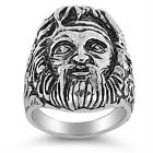 Stainless Steel  Ring Zeus Greek God Design [SR-952-N]