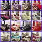 3PC Duvet Cover Set+Pillow Cases Quilt Cover Bedding In Single Double King Sizes