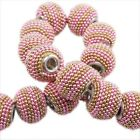 8/40pcs Fashion Mixed Double Colors Round Waxberry Charms European Beads 14x11mm