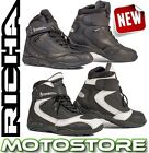 RICHA SLICK TOURING WATERPROOF BOOTS MOTORCYCLE MOTORBIKE ALL SIZES SHORT ANKLE