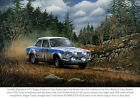 FORD ESCORT RS1600 (LVX 942J) 01 GLOSSY ART PRINT