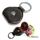Handmade Leather Keyring For Guitar Pick Anti Lost Holder Key Ring Charm Chain