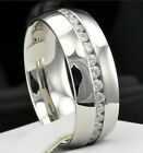New Womens & Mens Stainless Steel Engagement Wedding Anniversary CZ Band Ring