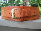"Gun Belt - 2 1/2"" Wide - Natural Color - Sizes 46"" & larger - Genuine Leather"