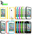 BUMPER CUSTODIA CASE COVER FOR IPHONE 4 4S SLIM TPU SILICON FREE SCREEN