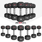 Hex Dumbbells Rubber Encased Ergo Weights Sets Hexagonal Dumbbell Gym Fitness <br/> OFFICIAL© We R Sports™ eBay Store ◥◤12 Month Warranty◥◤
