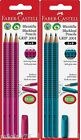 Faber Castell Design 2001 Grip 3 Pencils and Eraser, 4 Parts Set