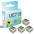 16 UCI BRAND Ink Cartridge Replace For T0711 T0712 T0713 T0714 T0715 Printer