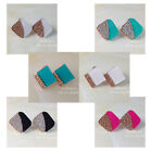 Fashion Cz Candy Color Ear Stud Shine Colorful Color Geometric dimetric Earring