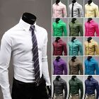 Propro Mens Design Dress Casual Cross HOT Sell Solid Shirts Tops Stylish  XS~XL