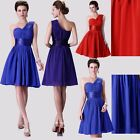 Hot Pleated Formal Bridesmaid Party Prom Evening Cocktail Short Dress Ball Gown