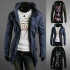Mens Slim Fit Sexy Top Designed Hoodies Military Fashion Jackets Coats Tops
