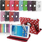 "360 Degree Rotating Case Cover for Samsung Galaxy Tab 3 P3200 P3210 7"" Inch"