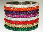 Gorgeous Sparkly Fabulous Diamante Rhinestone Crystal Bangles Beautiful Colours