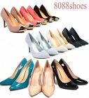Women's Sexy Pointy Toe Bridal Stiletto High Heel Pumps Shoes All Size 5.5 - 11