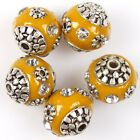 10/50pcs Fashion New Rhinestones Faux Indonesia Ball Charms Loose Beads 8 Styles